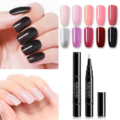 24Colors NICOLE DIARY 3-in-1 One Step UV Gel Pen Glitter Nail Gel Polish Design