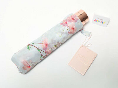 Ted Baker Stunning Floral Oriental Blossom Grey Floral Compact Umbrella  Bnwt