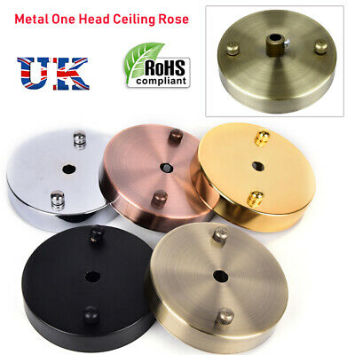 Metal Ceiling Rose one Head Vintage Style Perfect Ceiling pendant lights Home