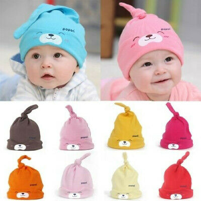Toddler Infant Kids Sweet Baby Girls Boys Cartoon Cotton Sleep Cap Headwear Hat