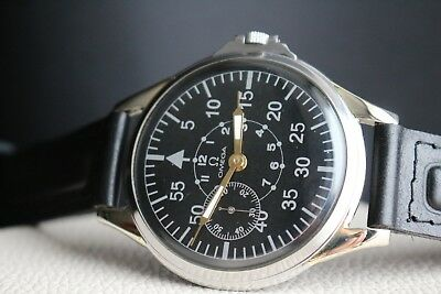 OMEGA Second World War (SWW, WK2) 1930`s AIR FORCES B-Dial Swiss Wrist Watch