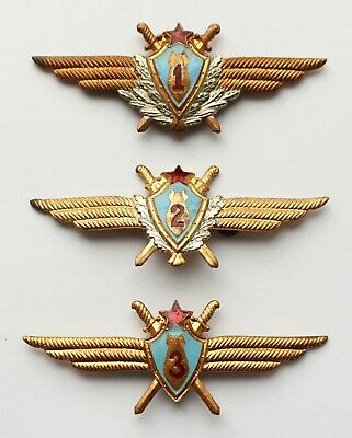 Soviet Russian Army Specialist 1 2 3 Officer Pilot Bomber Class Badge Air Force