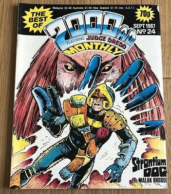 2000 Ad Monthly Sept 1987 Issue 24 Featuring Judge Dredd
