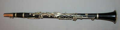 Vintage European Wood Clarinet With Case