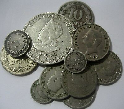 IMPORTANT  EL SALVADOR LOT start 1 $ : 20 (TWELWE)   COINS WITH HIGH  RARITY
