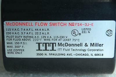 MCDONNELL & MILLER FS4-3J-E GENERAL PURPOSE LIQUID FLOW SWITCH
