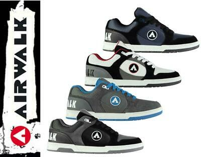 92ef6de989 Neuf Airwalk Throttle Hommes Chaussures à Lacets UK 7 - 13 Skateboard  Baskets