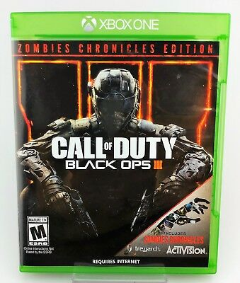 Call of Duty: Black Ops III 3 Zombies Chronicles Edition Xbox One Excellent