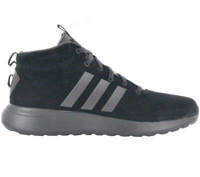 info for e3e15 7c5fd Adidas Mens Sneakers Cloudfoam Lite Racer mid Cf Shoes Black Leather  Sneaker