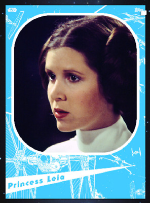 Topps Star Wars Card Trader Marathon 2019 A New Hope Princess Leia Blue