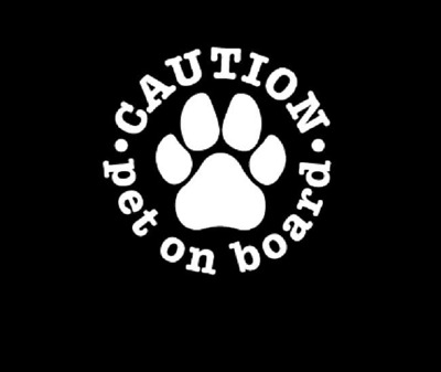 Service Dog On Board Decal Sticker Caution 3x 9 Free Shipping In
