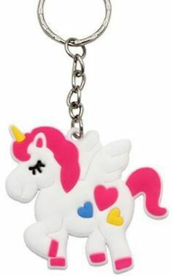 Unicorn Keyring Magical Silicone Girl Bag Pendant Keychain Heart T001 C1 a AL41