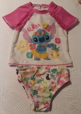 318e0a34e26fd Disney Store Lilo & Stitch Swimsuit Set for Baby Girls Size 12 18 Months  Used
