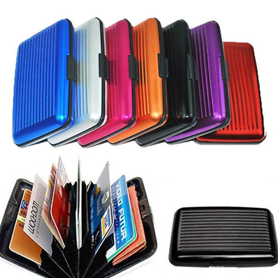 Aluminium Credit Card Wallet Case Card Holder Business ID Card Colorful RFID