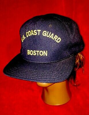 Vtg. U.s. Coast Guard Boston Hat Snapback Sz. Lg Bancrroft Cap Usa Military  Boat db9a1a88644f
