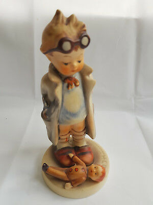 Hummel Boy Doctor with Goggles and Doll Goebel Figurine #127 Steampunk