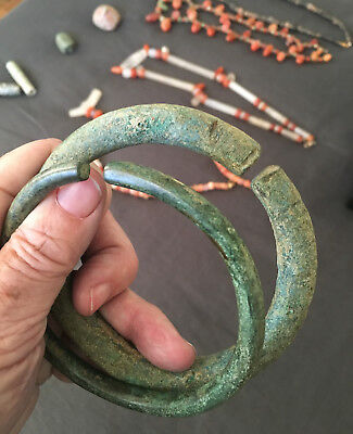 2 Ancient African Bracelets / Bronze Or Brass? / Unknown Origin / Mystery To Me
