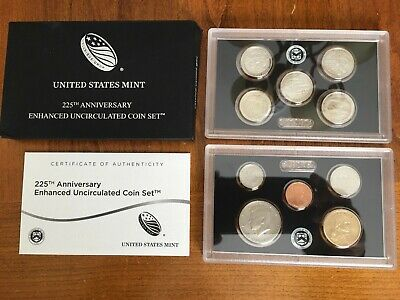 2017 S 10-piece 225th Anniversary Enhanced Uncirculated Coin Set-Sold out @ Mint