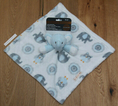 43fc1a8744ab Blankets   Beyond Baby Boy Security Blanket ~Elephants   Owls~White