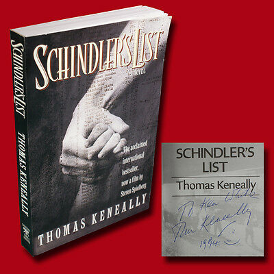 Schindler's List by Thomas Keneally (1982,SC) SIGNED GOOD