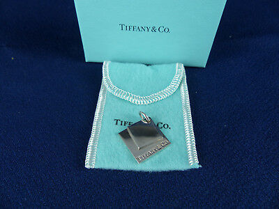Authentic Tiffany & Co Sterling Silver Double Square Charm or Pendant