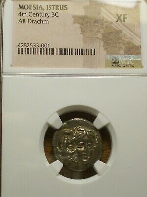 Moesia, Istrus 4Th Century Bc Ar Drachm Extra Fine Ngc - Xf - Toned