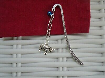Cow With Bell Bookmark Silver Plated Bookmarks Cows Farm Gift Reading Cattle New