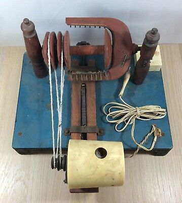 Rare Vintage USSR Electro spinning wheel Rustic style Home decor Spinning Work