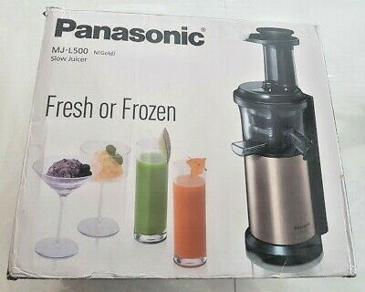 Panasonic MJ-L500 NXC Slow Juicer with Frozen Sorbet Attachment 150W Gold BOXED