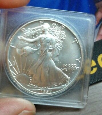 1992/1992 Doubling Date One Dollar Fine Silver American Eagle Troy Ounce Coin