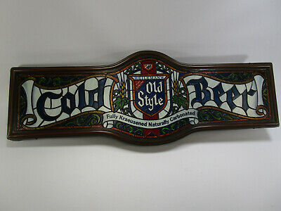 Vintage HEILEMAN'S OLD STYLE BEER Lighted Advertising Bar Plastic Tavern Sign