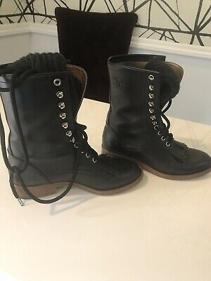 0bb2df6f7f6 CHANEL COMBAT BOOTS size 37 -  775.00