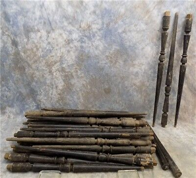 39 Wood Architectural Salvage Spindles Balusters Porch Post House Trim Vintage a