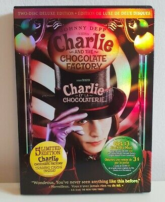 Charlie and the Chocolate Factory DVD 2005 Deluxe Edition Johnny Depp Tim Burton