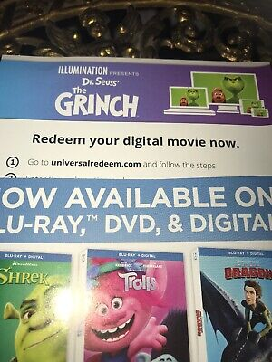Dr Seuss' The Grinch (2018) Digital Code Only