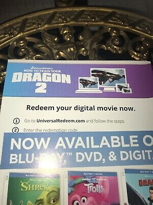 How To Train Your Dragon 2 Digital Code Only 4K And Blu Ray Version