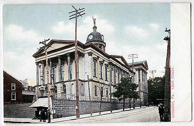 Vintage Postcard 1905 Lancaster PA/Penn Court House / Printed in Germany