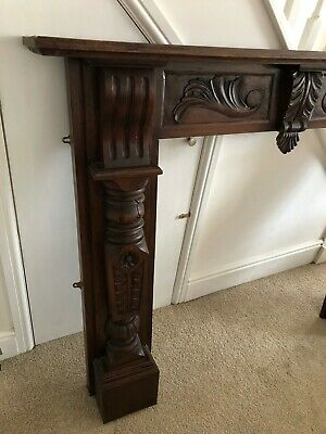 Vintage Carved Mahogany Fireplace surround/Mantelpiece