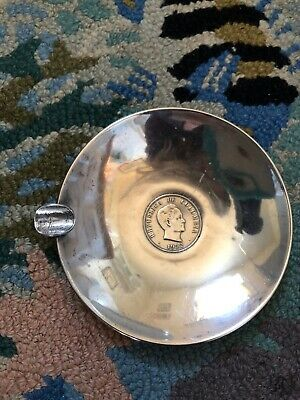 antique sterling silver ashtray