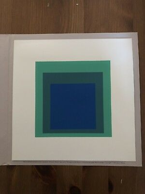 1976 Hand Printed Joseph Albers Homage To The Square