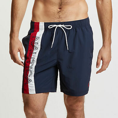 f5fe253672 NAUTICA MENS BIG & Tall Anchor Colorblock Swim Shorts - 18