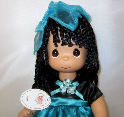 "Precious Moments Alysia 13"" Vinyl Doll African American NEW"