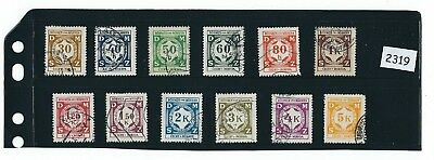 Only $2.49 per set!  / B a M German Occupation / Officials Complete 1941 set