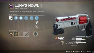 Destiny 2 Lunas Howl/Mountain top/Recluse/2100 Fabled (Xbox And PS4)