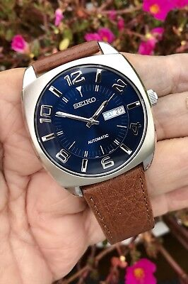 best authentic 013d2 6dc45 SEIKO 21J RE-CRAFT Auto.Blu Dial Stainless Steel Mens Watch SNKN37  NWT-EXIB-BACK