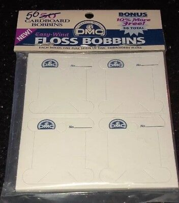 Cardboard Bobbin 42 DMC Floss Cross Stitch Needlepoint Sewing Notion