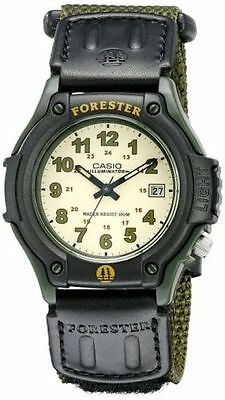 Casio FT500WC-3BV, Forester, Analog Watch, Green Nylon Strap, Date, 100 Meter WR