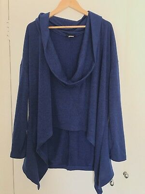 Veducci Made In Australia Size 18 Plus Size Dark Blue High Low Jumper NWOT