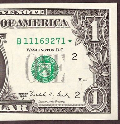 1988A $1 New York Frn *star* Note - Unc