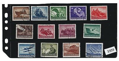 #3359   Military / Armed forces Complete 1944 Stamp set / Cancelled with holder